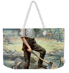 Abe Lincoln The Rail Splitter  Weekender Tote Bag by War Is Hell Store