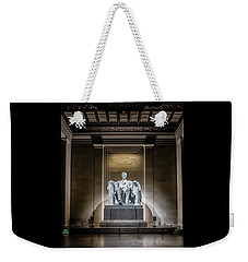 Abe Lincoln Under His Night Lights  Weekender Tote Bag