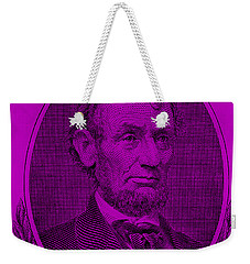 Weekender Tote Bag featuring the photograph Abe On The 5 Purple by Rob Hans