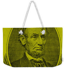 Weekender Tote Bag featuring the photograph Abe On The 5 Yellow by Rob Hans