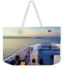 Aboard The Chi-cheemaun Weekender Tote Bag