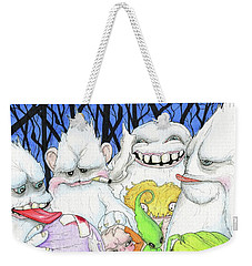 Abominable Behavior Weekender Tote Bag