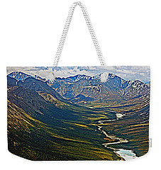 Weekender Tote Bag featuring the painting Above The Arctic Circle by John Haldane