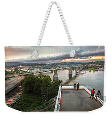 Above The Bluff, Musuem View Weekender Tote Bag by Steven Llorca