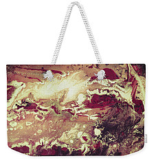 Above The Clouds - Contemporary Earth Tone Abstract Painting Weekender Tote Bag