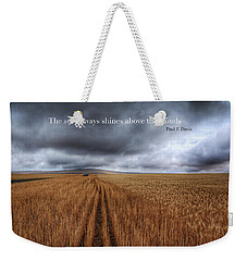 Weekender Tote Bag featuring the photograph Above The Clouds by Lynn Hopwood