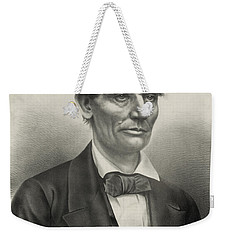 Weekender Tote Bag featuring the photograph Abraham Lincoln - As A Presidential Candidate by International  Images