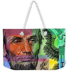 Abraham Lincoln - $5 Bill Weekender Tote Bag