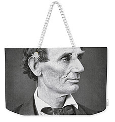 Abraham Lincoln Weekender Tote Bag by Alexander Hesler