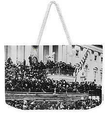 Abraham Lincoln Gives His Second Inaugural Address - March 4 1865 Weekender Tote Bag by International  Images