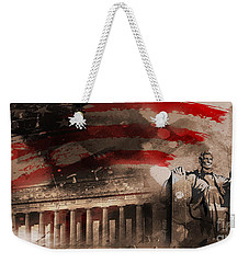 Weekender Tote Bag featuring the painting Abraham Lincoln by Gull G