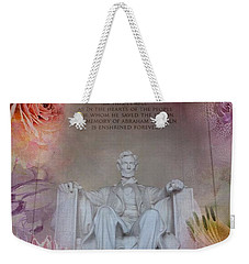 Abraham Lincoln Memorial At Spring Weekender Tote Bag