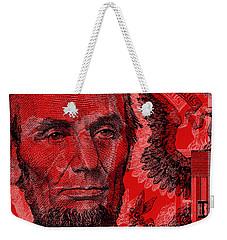 Abraham Lincoln Pop Art Weekender Tote Bag