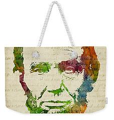 Abraham Lincoln Watercolor Weekender Tote Bag