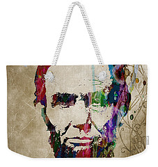 Abraham Lincoln Watercolor Modern Abstract Pop Art Color Weekender Tote Bag