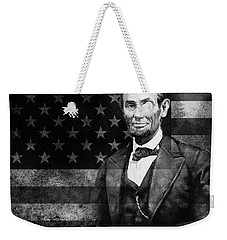 Abraham Lincoln With American Flag  Weekender Tote Bag by Gull G