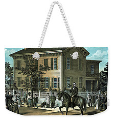 Abraham Lincoln's Return Home Weekender Tote Bag by War Is Hell Store