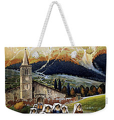 Abruzzo Italy Travel Poster 1920 Weekender Tote Bag