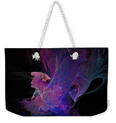 Abstact Pink Swan Weekender Tote Bag by Tamara Sushko