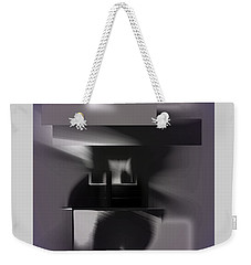 Weekender Tote Bag featuring the digital art Abstract 188 by Iris Gelbart