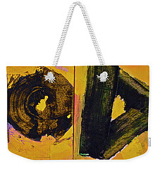 Weekender Tote Bag featuring the painting Abstract 2071-diptych by Cliff Spohn