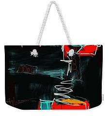 Weekender Tote Bag featuring the painting Abstract - 21nov2016 by Jim Vance
