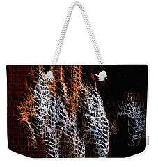 Weekender Tote Bag featuring the digital art Abstract 401 by Rafael Salazar