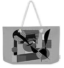 Weekender Tote Bag featuring the digital art Abstract 500 by Iris Gelbart