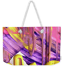Weekender Tote Bag featuring the painting Abstract 6525 by Stephanie Moore