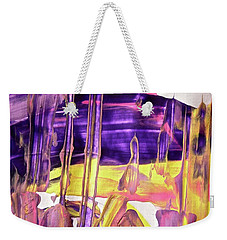 Weekender Tote Bag featuring the painting Abstract 6526 by Stephanie Moore