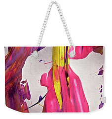 Weekender Tote Bag featuring the painting Abstract 6528 by Stephanie Moore