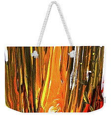 Weekender Tote Bag featuring the painting Abstract 6535 by Stephanie Moore