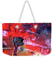 Weekender Tote Bag featuring the painting Abstract 6539 by Stephanie Moore