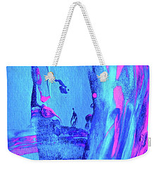 Weekender Tote Bag featuring the painting Abstract 6541 by Stephanie Moore