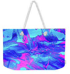 Weekender Tote Bag featuring the painting Abstract 6544 by Stephanie Moore
