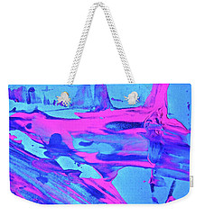 Weekender Tote Bag featuring the painting Abstract 6547 by Stephanie Moore