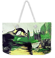 Weekender Tote Bag featuring the painting Abstract 6551 by Stephanie Moore