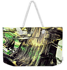 Weekender Tote Bag featuring the painting Abstract 6554 by Stephanie Moore