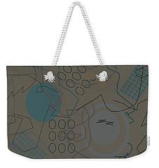 Abstract 8 Brown Weekender Tote Bag