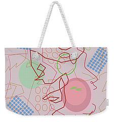 Abstract 8 Pink Weekender Tote Bag