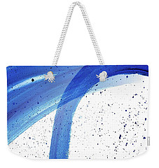 Abstract Acrylic Painting Blues Series 4 Weekender Tote Bag
