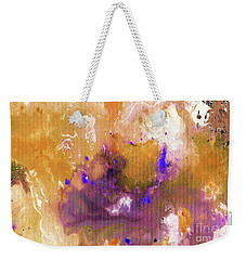 Abstract Acrylic Painting Purple  Weekender Tote Bag