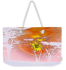 Weekender Tote Bag featuring the photograph Abstract African Landscape by Robert G Kernodle