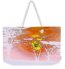 Abstract African Landscape Weekender Tote Bag by Robert G Kernodle