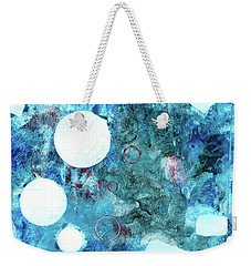 Abstract Art Blue Weekender Tote Bag