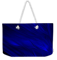 Abstract Art - Feathered Path Blue By Rgiada Weekender Tote Bag by Giada Rossi