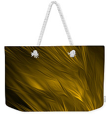 Abstract Art - Feathered Path Gold By Rgiada Weekender Tote Bag