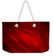 Abstract Art - Feathered Path Red By Rgiada Weekender Tote Bag by Giada Rossi