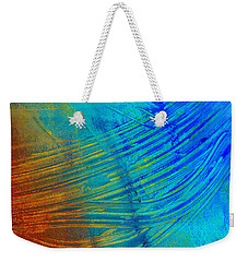 Abstract Art  Painting Freefall By Ann Powell Weekender Tote Bag by Ann Powell
