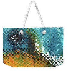 Abstract Art - Pieces 9 - Sharon Cummings Weekender Tote Bag by Sharon Cummings